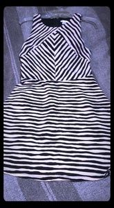 Girls striped dress size large